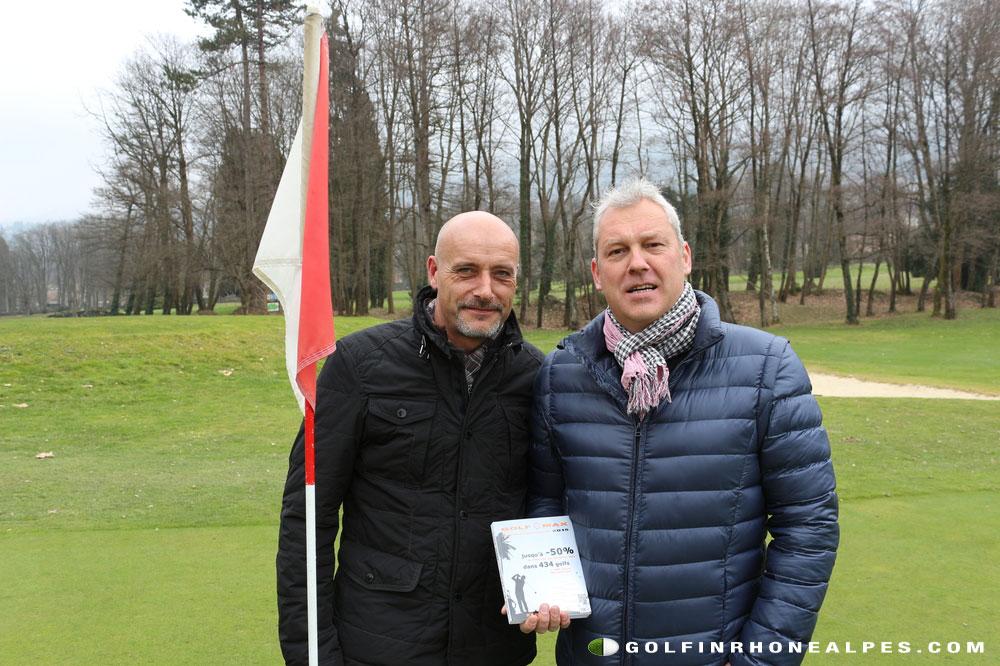 """Lionel Partaix et Vincent Besson,les 2  créateurs de """"Golf O Max"""""""""""