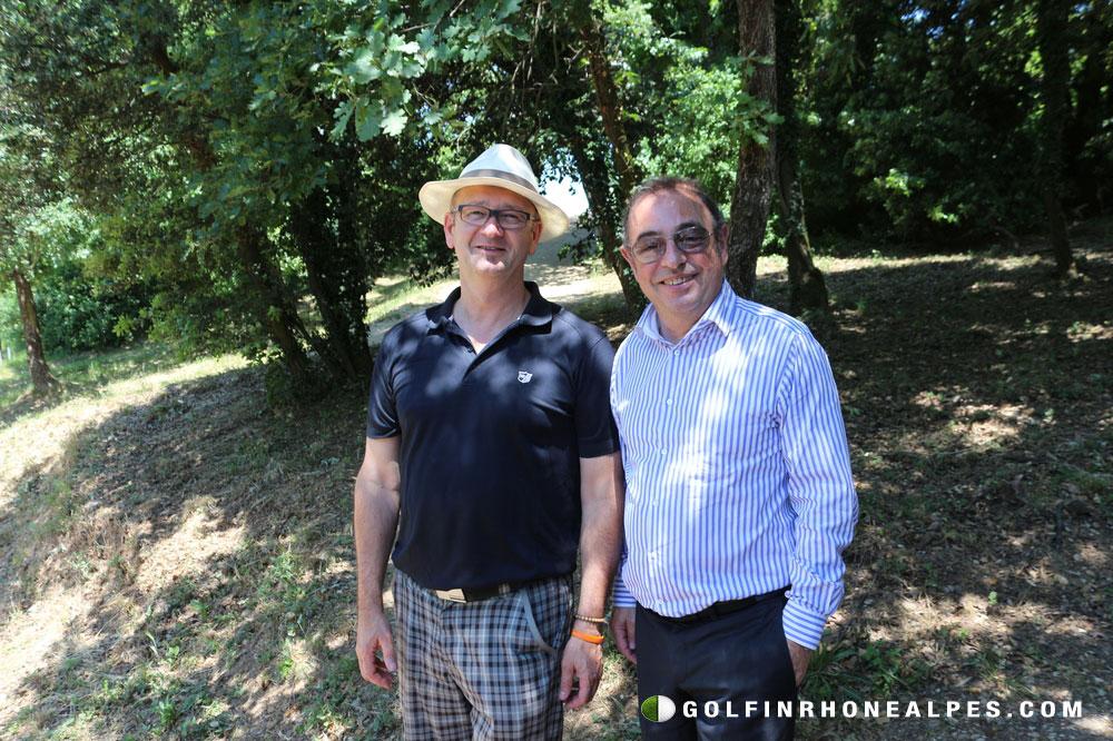 (à g)Pascal Andrieu directeur du golf des Chanalets et Bruno Domenach , Directeur du Tourisme Ville de Valence