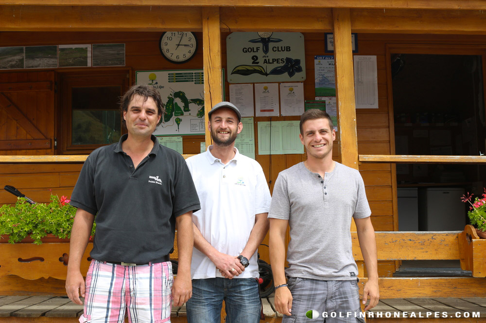l'équipe animatrice du golf.Sous le signe de la convivialité