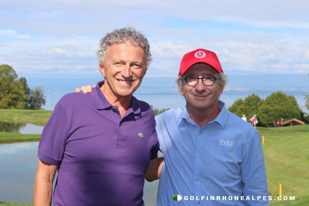 Nelson Montfort aux côtés de Franck Riboud