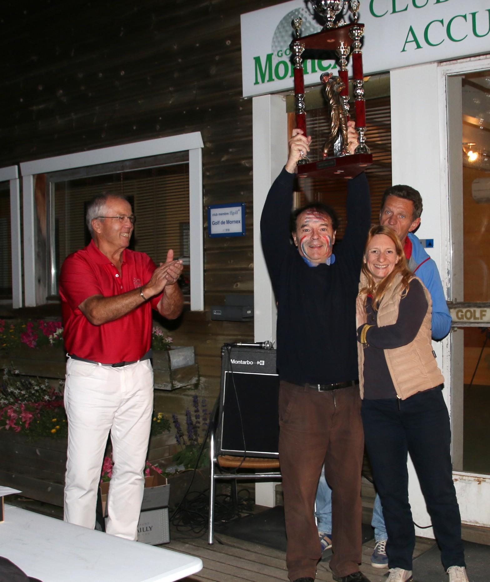 Le triomphe modeste d'Alain Ruffié, Président du Mornex Golf Club..