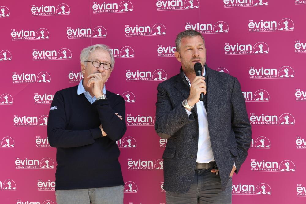Jacques Bungert, L'homme orchestre de l'Evianchampionship aux cotés de Franck Riboud,Président du Tournoi