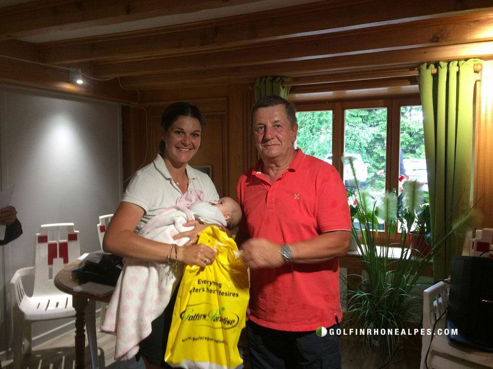 Christian Pagnier, Alsion et Juliette Wilmann, gagnante en Net